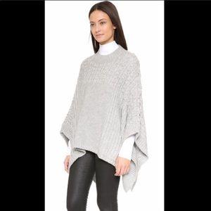 Club Monaco grey sweater poncho xs/s